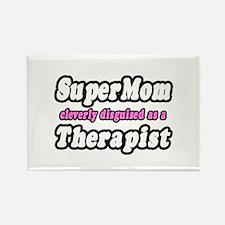 """SuperMom...Therapist"" Rectangle Magnet"