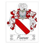 Panzano Family Crest Small Poster