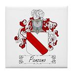 Panzano Family Crest Tile Coaster