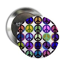 """Mod Vintage Peace 2.25"""" Button"""