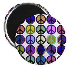 """Mod Vintage Peace 2.25"""" Magnet (10 pack)"""