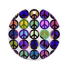 Mod Vintage Peace Ornament (Round)