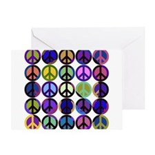 Mod Vintage Peace Greeting Card