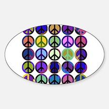 Mod Vintage Peace Oval Decal