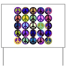 Mod Vintage Peace Yard Sign