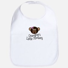 Grandpop's Little Monkey Girl Bib