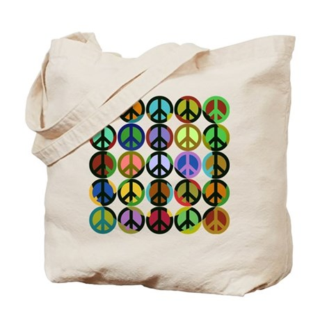 Cool Peace Signs Tote Bag