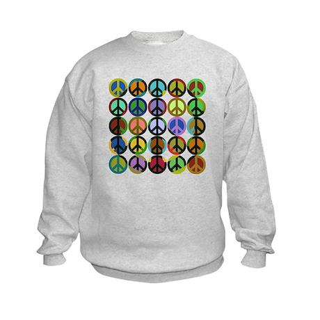 Cool Peace Signs Kids Sweatshirt
