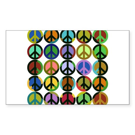 Cool Peace Signs Rectangle Sticker