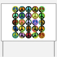 Cool Peace Signs Yard Sign