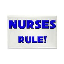 Nurses Rule! Rectangle Magnet