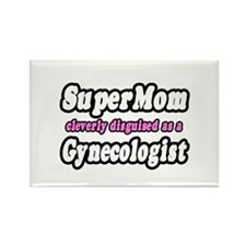 """SuperMom...Gynecologist"" Rectangle Magnet"