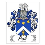 Paoli Family Crest Small Poster