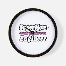 """""""SuperMom...Engineer"""" Wall Clock"""