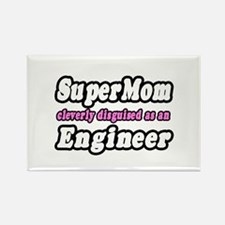 """""""SuperMom...Engineer"""" Rectangle Magnet"""