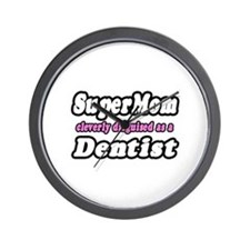"""SuperMom...Dentist"" Wall Clock"