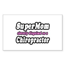 """SuperMom...Chiropractor"" Rectangle Decal"