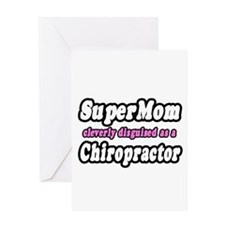 """SuperMom...Chiropractor"" Greeting Card"