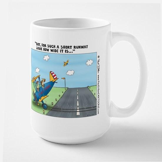 """Short Runway..."" Large Mug"