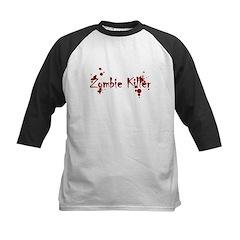 Zombie Killer Splatters Kids Baseball Jersey