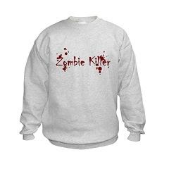 Zombie Killer Splatters Sweatshirt