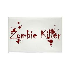 Zombie Killer Splatters Rectangle Magnet (10 pack)