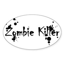 Zombie Killer Splatters Oval Decal