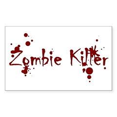 Zombie Killer Splatters Rectangle Sticker 10 pk)