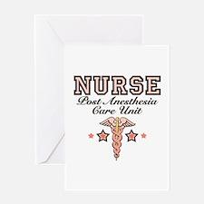 PACU Nurse Caduceus Greeting Card
