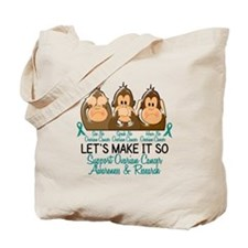 See Speak Hear No Ovarian Cancer 2 Tote Bag