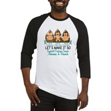 See Speak Hear No Ovarian Cancer 2 Baseball Jersey