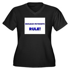 Nuclear Physicists Rule! Women's Plus Size V-Neck