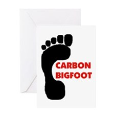 CARBON TRACKS Greeting Card