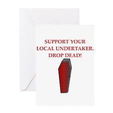 drop dead halloween Greeting Card