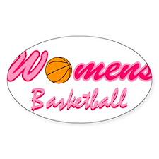 Womens Basketball Oval Decal