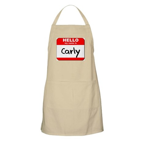 Hello my name is Carly BBQ Apron