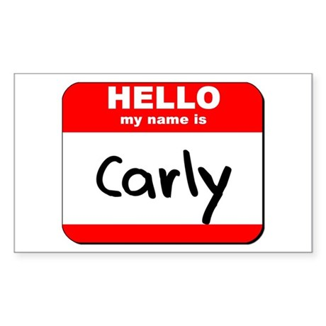 Hello my name is Carly Rectangle Sticker