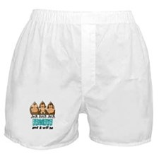 See Speak Hear No Ovarian Cancer 3 Boxer Shorts