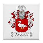Paravicini Family Crest Tile Coaster