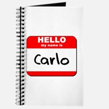 Hello my name is Carlo Journal