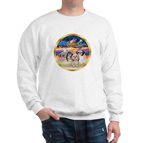 XmasStar/3 Shih Tzus Sweatshirt