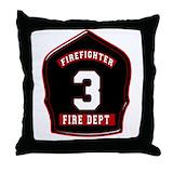 Fire dept Throw Pillows