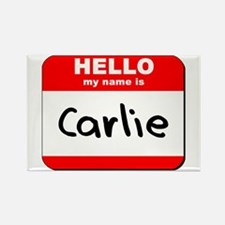 Hello my name is Carlie Rectangle Magnet