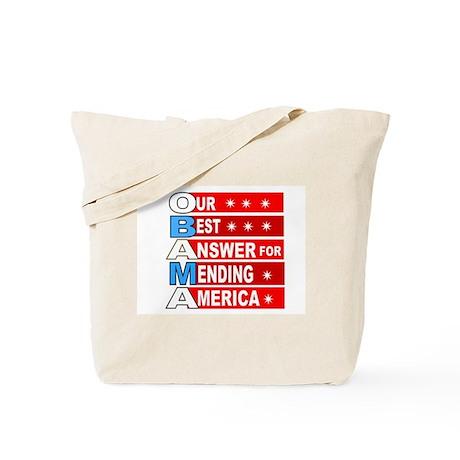 Obama mend America Tote Bag