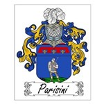 Parisini Family Crest Small Poster