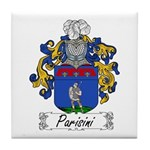 Parisini Family Crest Tile Coaster