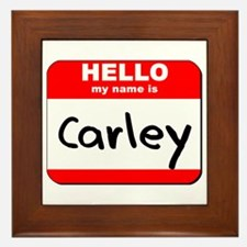Hello my name is Carley Framed Tile