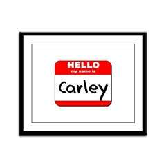 Hello my name is Carley Framed Panel Print