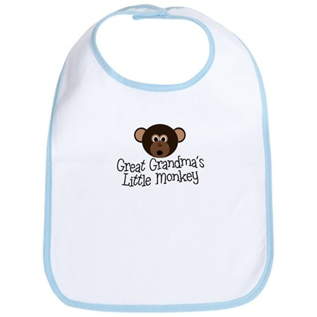Great Grandma's Monkey B Bib