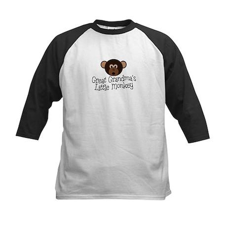 Great Grandma's Monkey B Kids Baseball Jersey